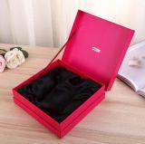 2017新式の流行の赤い折り返しのペーパー化粧品ボックス
