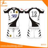 Healongのスポーツ・ウェア自由なデザイン卸売によってカスタマイズされるラグビーのジャージーのワイシャツ