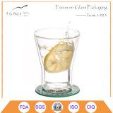 ODM / OEM de cristal claro de tazas de té con platillo