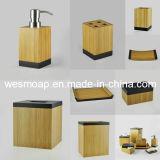 De gecarboniseerde Toebehoren van de Badkamers van het Bamboe met Zwarte Rand (WBB0617A)