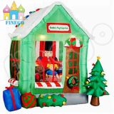 Aufblasbare Weihnachtsdekoration-aufblasbare Kabine für Weihnachtsmann