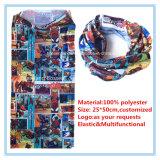 Шарф буйволовой кожи Microfiber полиэфира продукции фабрики изготовленный на заказ напечатанный логосом многофункциональный