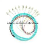 coleta agrupada óptica LC/Upc Om3 de fibra 12cores con varios modos de funcionamiento