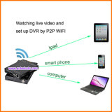 Cartão SD 1080P 4 Channel School Bus DVR com WiFi GPS