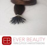 ブラジル人の100%年のRemyの人間の毛髪のNanoリングの毛の拡張