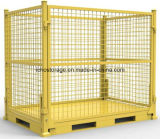 Warehouse StorageのためのFoldable及びStackableの重義務Wire Mesh Cage
