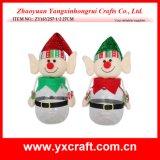 Décoration de Noël (ZY16Y257-1-2 27cm) Noël Chers Elf Elf Jar Boot Lutin de Noël Décoration suspendus