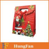 Form-Weihnachtseinkaufen-Papier-Geschenk-Beutel mit gestempelschnittenem Griff