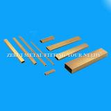 Stark gezeichnetes rechteckiges Messinggefäß C26000 für dekorative Zubehör