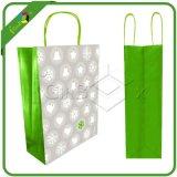Il verde ecologico progetta il sacco per il cliente di Tote stampato