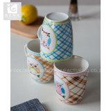 Lleno poseer la taza de café de cerámica de la etiqueta/la taza blanca de la carrocería