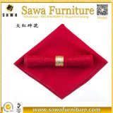 Wedding liefert das 50cm Polyester-Rosa-Serviette-Rot