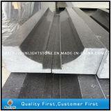 Prefab G684 Granito de Pedra Negra para Borda / Azulejos / Pavimentos