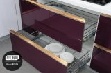 Gabinete de cozinha moderno do MDF do acrílico novo (zv-008)