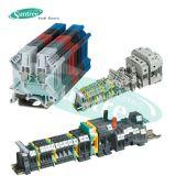 UK Bloco de terminais elétrico universal Bloco de terminais de PCB Bloco de terminais Bloco de terminais de trilho DIN
