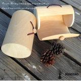 Caixa de Macaron com casca de madeira de Hongdao com design Logo_I
