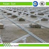 Soporte fotovoltaico solar montado en el suelo