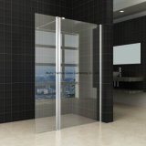 Матированное стекло экрана ливня рамки 8 крома ванной комнаты 10mm Tempered