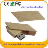 Movimentação de madeira do flash do USB da chegada nova com logotipo feito sob encomenda (EW098)