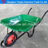 Carriola Wb7500 della riga della barra di rotella del mercato del Sudamerica con la rotella solida
