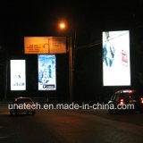 Bandeira ao ar livre Scroller do diodo emissor de luz do frame de caixa do poster da campanha publicitária nos meios de comunicação da rua do negócio