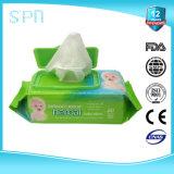 Wipes del bambino di pulizia di formula di sicurezza dell'OEM senza profumo