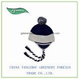 昇進の方法青い冬のEarflapのニットの帽子