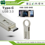 Tipo C Unidade Flash USB 3.0 Mini Pen Memory Stick