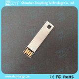 Kundenspezifischer Firmenzeichen-Silber-Metallbookmark 8GB USB-Stock (ZYF1739)