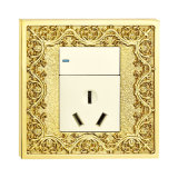 Enchufe de socket de cobre amarillo del acondicionador de aire de Witched