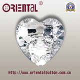 2-Holes trasparente Heart Shape Acrylic Button (A-3011)