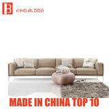 Meubles de divan de sofa de Nappa Leahter de dessus de couleur de Brown