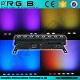 8PCS*8wrgbw 4in1 drahtloses Wand-Unterlegscheibe-Licht der Batterie-LED für heißen Verkauf