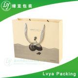 Zoll aufbereitetes Luxuxfertigkeit-Geschenk tragen kaufenpackpapier-Beutel brown-