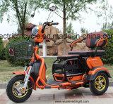 Три взрослых колеса электрического мопеда инвалидных колясках Trike велосипед с корзины
