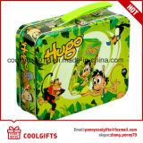 선물을%s 만화에 의하여 인쇄되는 심혼 모양 금속 점심 콘테이너 주석 상자