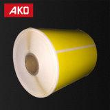 Weißer rosafarbener blauer gelber bunter Aufkleber-Kennsatz-thermisches Papier