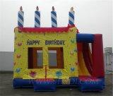 膨脹可能な誕生日の城、コンボ膨脹可能なバースデー・ケーキ(B3024)