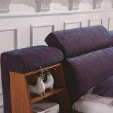 침실 사용 (FB8043A)를 위한 신식 현대 Tatami 직물 침대