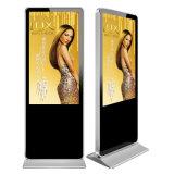 suelo 46inch que coloca el LCD androide que hace publicidad de la visualización
