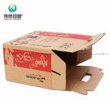 Rectángulo de regalo del alimento de la impresión de Kraft y del papel acanalado