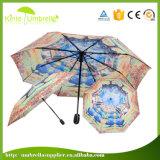Paraplu van uitstekende kwaliteit van de Hond van de Paraplu van de Douane de Promotie Witte