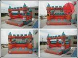 巨大スライドの膨脹可能な跳躍の警備員の城はコンボ二倍になる(T2218)
