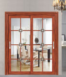 Puerta deslizante de cristal doble con el modelo clásico