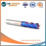 4X100 HRC55-68 4 plano de la Flauta de molinos de extremo de carburo