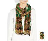 Pflanzen und Blumen kundenspezifischer Silk Schal