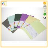 Impression de cahier d'agenda de couverture molle d'OEM en papier coloré