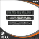 2U 선반 mountable 포좌 시스템 14 슬롯 매체 변환기를 위한 두 배 AC220V 전력 공급