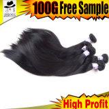 Extensão não processada peruana do cabelo de 100%