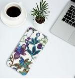 Caixa de couro do telefone de pilha do plutônio da textura do bordado para o iPhone 8
